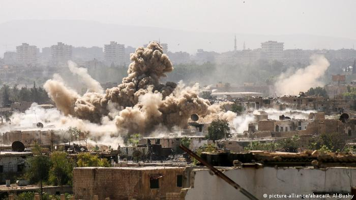 Air strike in Damascus, Syria