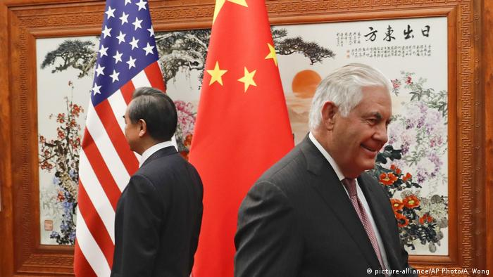 China US-Außenminister Rex Tillerson in Peking (picture-alliance/AP Photo/A. Wong)