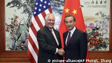 China US-Außenminister Rex Tillerson in Peking