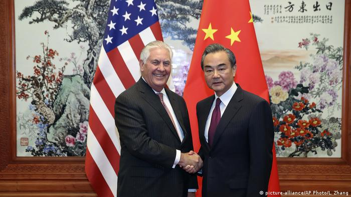 China US-Außenminister Rex Tillerson in Peking (picture-alliance/AP Photo/L. Zhang)