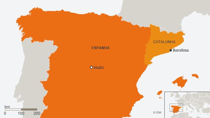 Karte Katalonien Spanien Barcelona POR