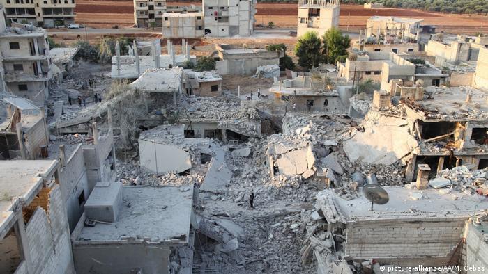 Armanaz kasabasındaki yıkım