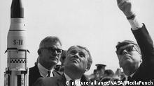 USA Werner von Braun mit John F. Kennedy