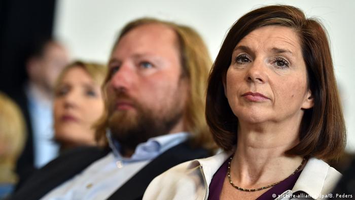 Czołowi politycy Zielonych Katrin-Goering-Eckardt (p) i Anton Hofreiter