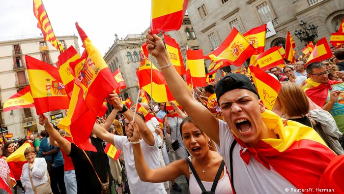 Spanien Demonstration für den Erhalt der Einheit (Reuters/Y. Herman )