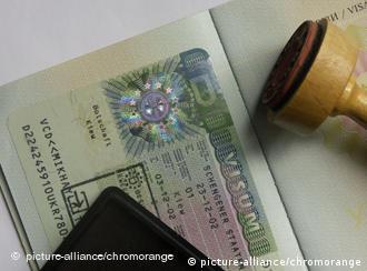 A Schengen visa application