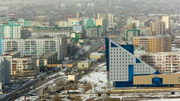 Apartment buildings in Yakutsk