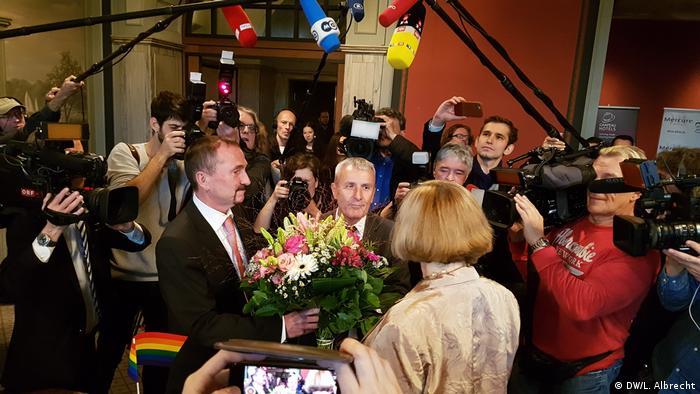 Під час реєстрації першого одностатевого шлюбу в Берліні