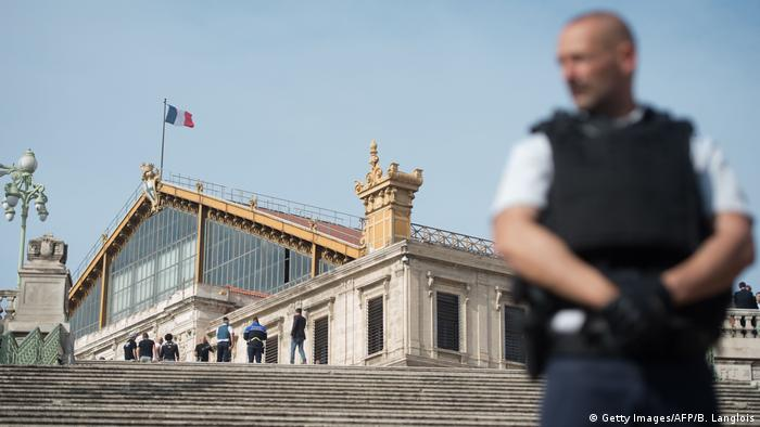 Frankreich Marseille Messerattacke Bahnhof Saint-Charles (Getty Images/AFP/B. Langlois)