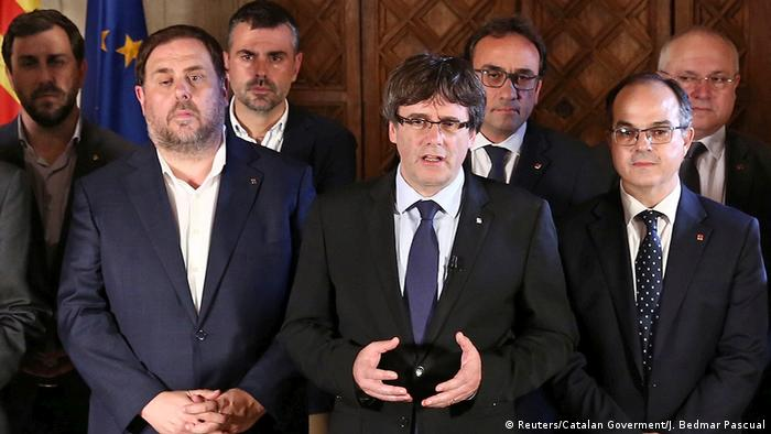 Spanien Carles Puigdemont in Barcelona (Reuters/Catalan Goverment/J. Bedmar Pascual)