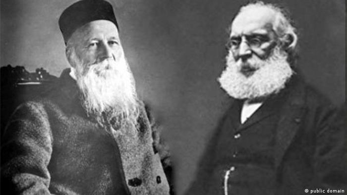 Ya en 1901, cuando el Premio Nobel de la Paz se otorgó por primera vez, la Comisión Nobel no apoyó unánimente la decisión de entregarlo al suizo Henry Dunant (izq.) y al francés Frédéric Passy.