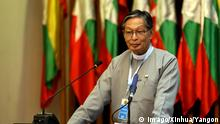 Minister of Myanmar State Counselor Office U Kyaw Tint Swe speaks