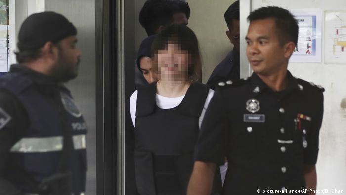 Malaysia Kuala Lumpur Prozess gegen 2 Frauen wegen Giftmord an Kim Jong Nam (picture-alliance/AP Photo/D. Chan)