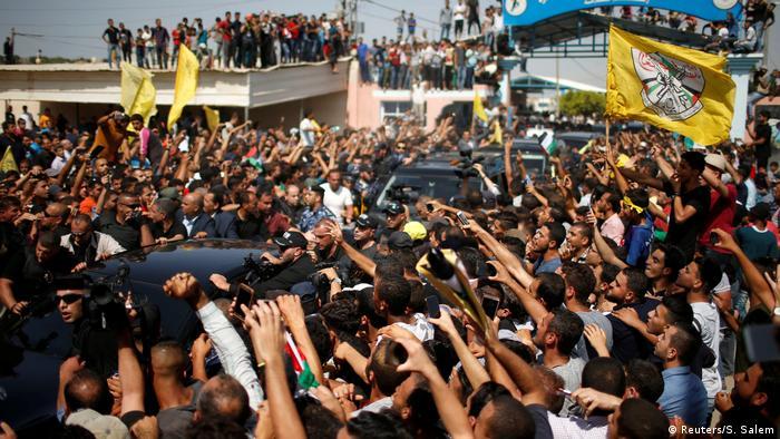 Gaza-Streifen Besuch von Palästinenser Premierminister Rami Hamdallah (Reuters/S. Salem)