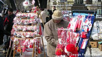 Bulgarien Land und Leute Markt in Sofia Marteniza