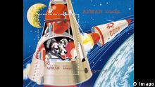 Laika Briefmarke erster Hund im Weltall