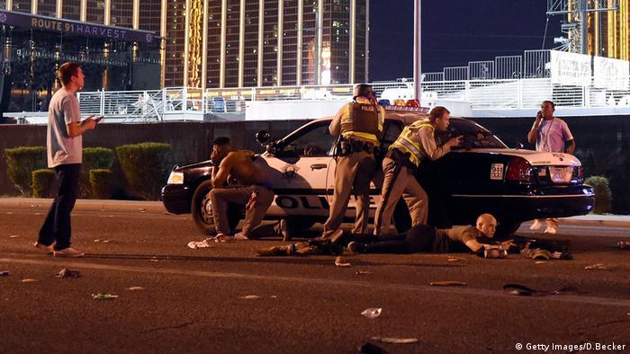 Во время стрельбы в Лас-Вегасе