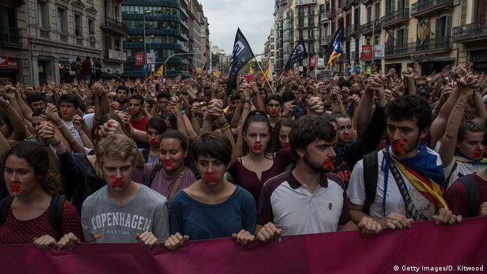 Spanien Proteste in Barcelona nach Unabhängigkeitsreferedum