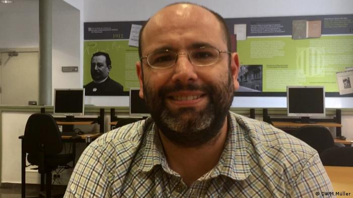 Politikprofessor an der Universität Barcelona Jesus Palomar (DW/M.Müller)