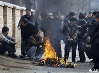 寒冬中的北京失业民工