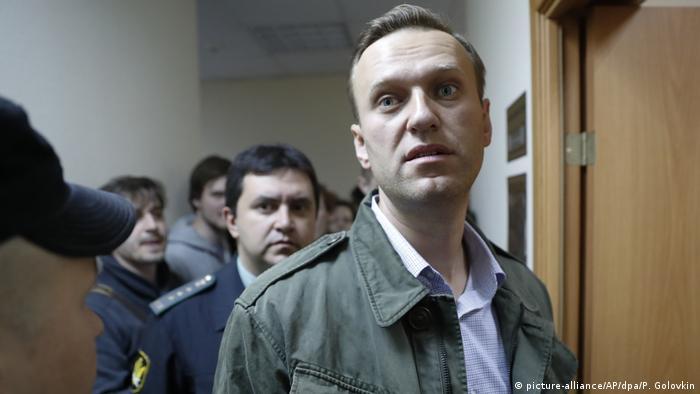Russland Alexej Nawalny vor Gericht