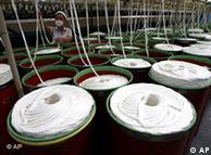 中国的一个纺织厂