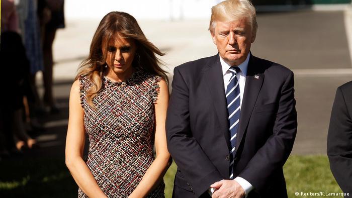Donald und Melania Trump Schweigeminute Las Vegas Opfer (Reuters/K.Lamarque)