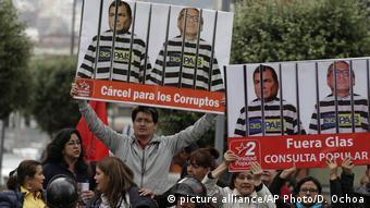 Ecuador Korruptionsvorwürfe gegen Correa und Glas (picture alliance/AP Photo/D. Ochoa)