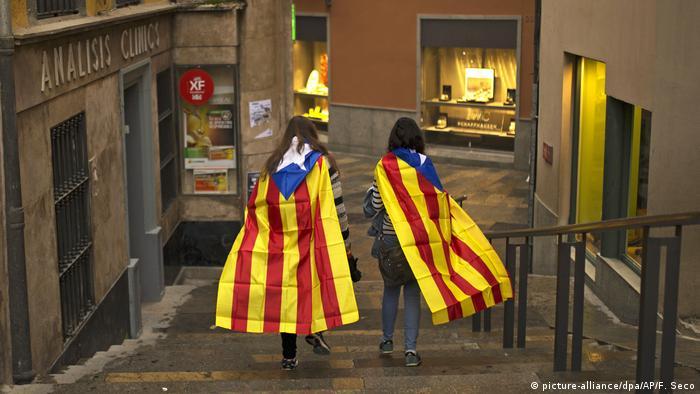 Spanien Girona nach dem Referendum in Katalonien (picture-alliance/dpa/AP/F. Seco)