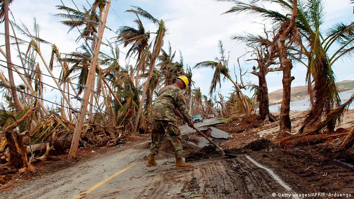 Destruction in Puerto Rico after Hurricane Maria