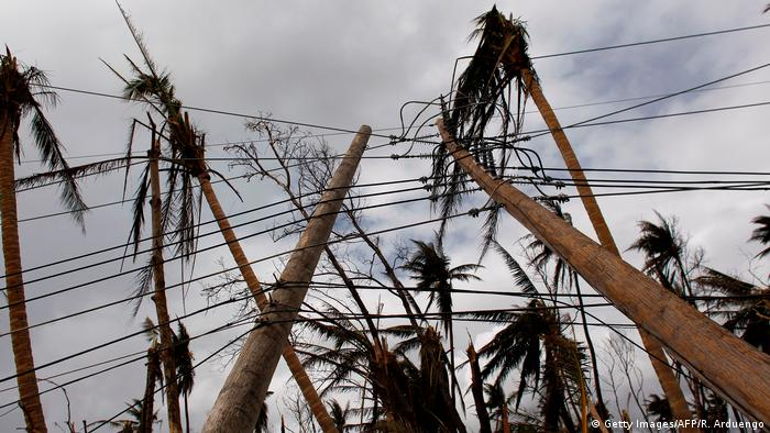 Power lines downed in Puerto Rico after Hurricane Maria (Getty Images/AFP/R. Arduengo)