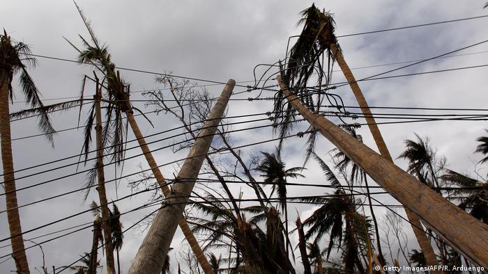 Puerto Rico zerstörte Infrastruktur nach Hurrikan