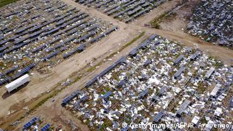 Puerto Rico — solar panels destroyed by Hurricane Maria