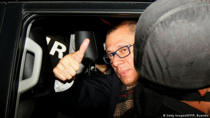 Ecuador Vizepräsident Jorge Glas erreicht Gefängnis (Getty Images/AFP/R. Buendia)
