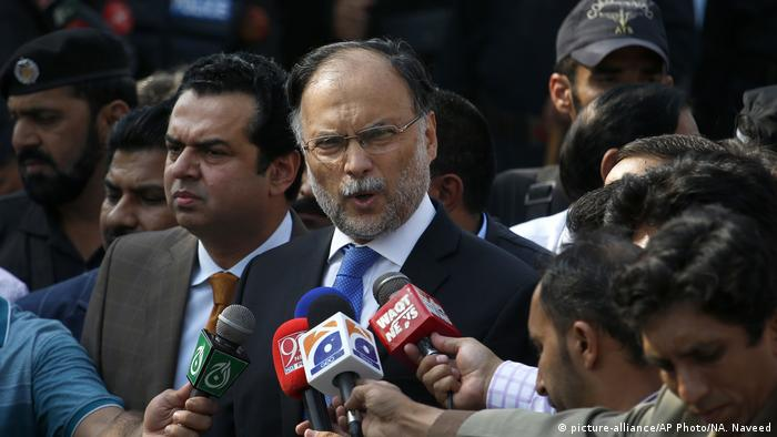 Pakistan Innenminister Ahsan Iqbal (picture-alliance/AP Photo/NA. Naveed)