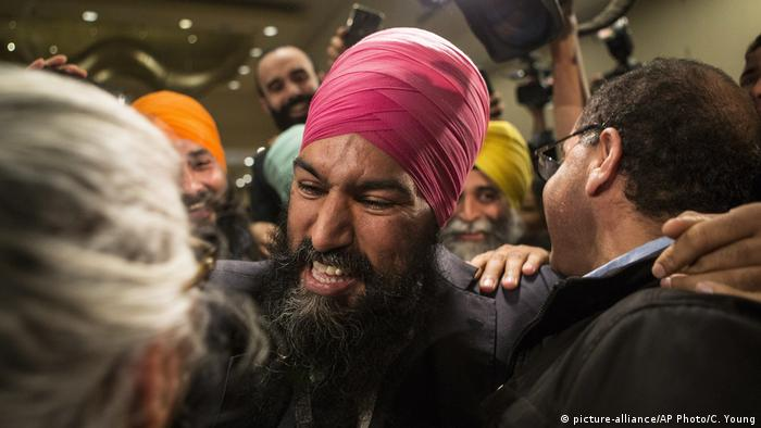 Kanada Sikh Jagmeet Singh (picture-alliance/AP Photo/C. Young)