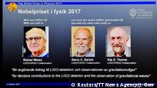 Schweden Stockholm Physik-Nobelpreis 2017
