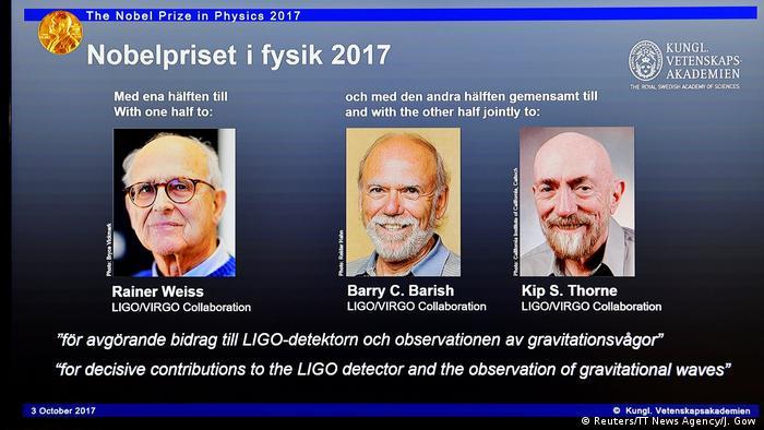 Schweden Stockholm Physik-Nobelpreis 2017 (Reuters/TT News Agency/J. Gow )