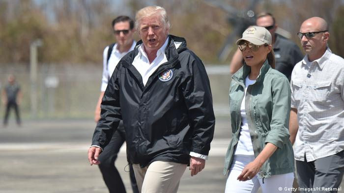 Donald Trump in Puerto Rico (Getty Images/H.Retamal)