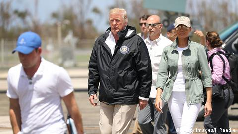 USA Präsident Donald Trump in Puerto Rico (Getty Images/J. Raedle)