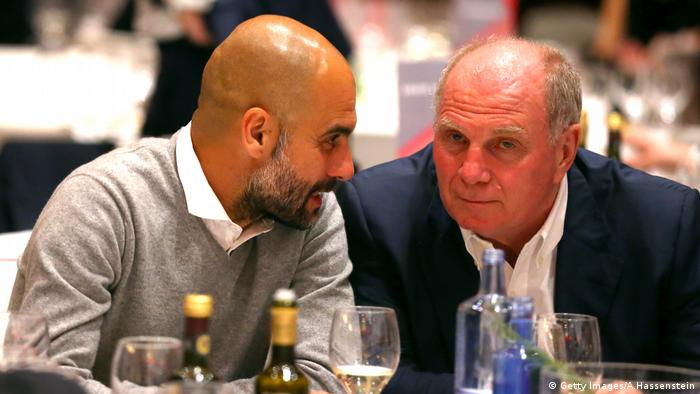 Image result for Uli Hoeness and Guardiola
