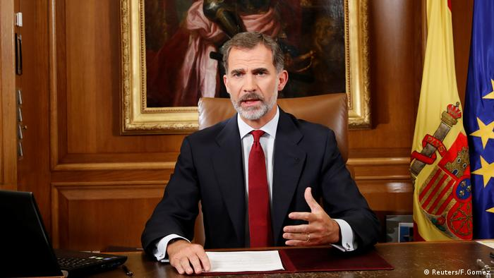 Kong Felipe VI on Spanish television (Reuters/F.Gomez)