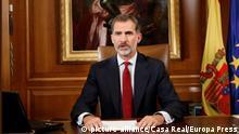 König Felipe hält Rede an die Nation