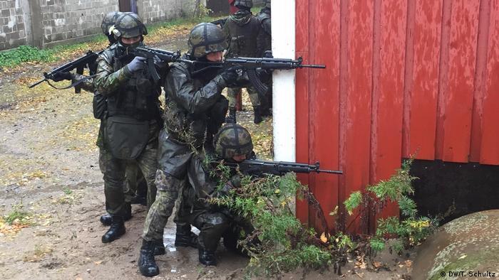 Finnland Militärübung in Santahamina