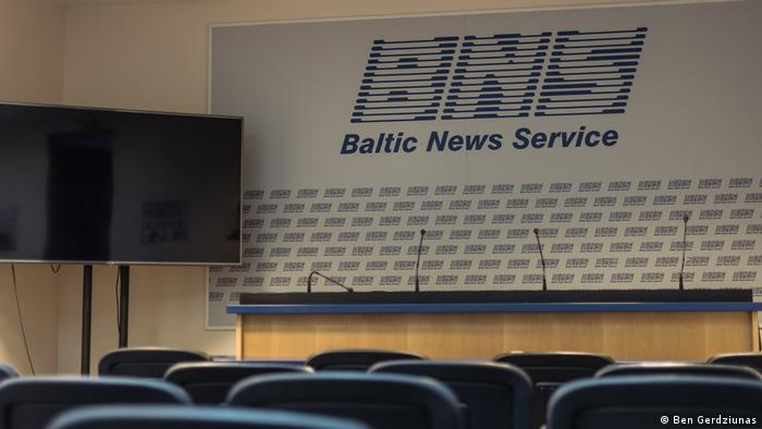 press room of the Baltic News Service