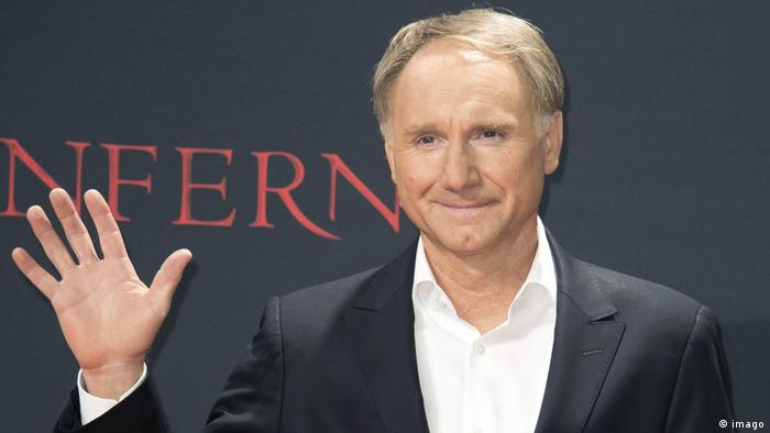 Dan Brown at the Inferno Film premiere at the CineStar Sony Center in Berlin