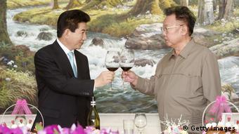 Roh Moo-hyun und Kim Jong-il beim Gipfeltreffen zwischen Süd- und Nordkorea