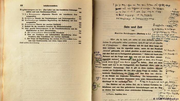 Deutschland Sein und Zeit Heidegger mit Korrekturen