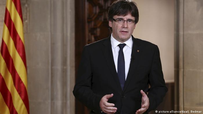 EUROPA / ESPAÑA:  Puigdemont: Cataluña aplicará el resultado del referéndum