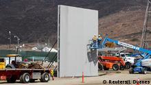 USA San Diego Grenze Mexiko Mauerbau Prototypen